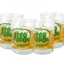 rocks glass set of four rocks glasses ale 8 one