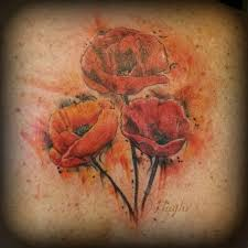 34 watercolor poppy tattoos