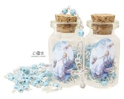 rosary favors for baptism 5 blue rosary favors pack of 12 rosaries cb flowers crafts
