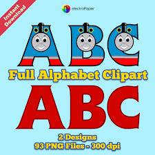 thomas friends alphabet clipart 2 designs 2 clouds