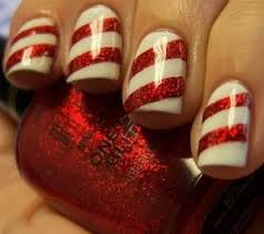 the 25 best candy cane nails ideas on pinterest