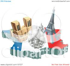 clipart illustration of french tourist attractions the basilica