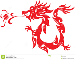 chinese dragon clipart fire breathing dragon pencil and in color