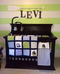 Nautical Baby Nursery Lime Green Navy Blue Light Blue Nautical Themed Baby Boy Nursery