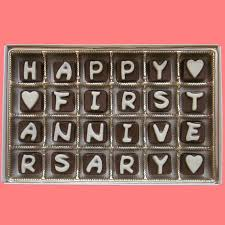 one year anniversary gift ideas for him happy anniversary cubic chocolate by what candy says on zibbet
