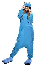 Cookie Monster Halloween Costume Adults Amazon Superlieu Cookie Monster Kigurumi Pajamas Anime