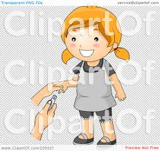 royalty free rf clipart illustration of a happy getting her