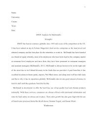 harvard style essay swot analysis for mc donald u0027s
