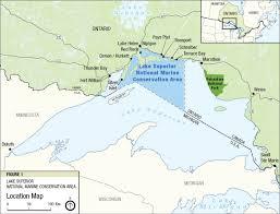 Lake Michigan Shipwrecks Map by Land Water U0026 History Exploring Our Geoheritage Lake Superior