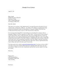 free sle cover letter for administrative assistant position 28