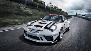 old racing porsche new 911 gt3 cup with ultra modern drive