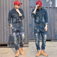 mens one jumpsuit mid rise overalls denim for ebay