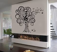 vinyl wall decal musical tree music art house interior room
