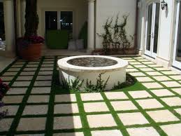 garden simple white garden idea come with square white stepping