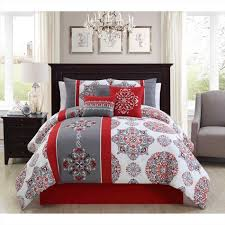 Comforter Sets King Walmart Corell 7 Piece Bedding Comforter Set Walmart And Red California