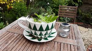 giant teacup planter for a touch of humour in the garden
