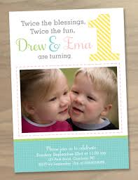 Invitation Card For 1st Birthday Birthday Invites Latest Twins First Birthday Invitations Ideas