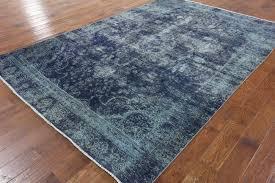 oriental overdyed rug 7 x 11 p2458