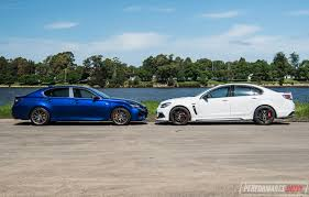 lexus gs length 2017 hsv clubsport lsa vs lexus gs f v8 sedan comparison video