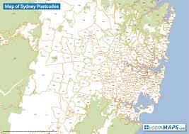 Sydney Subway Map by Sydney Postcode Map Map Of Sydney Postcodes Australia