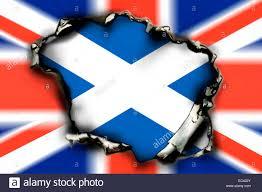 union jack burn hole and flag of scotland scottish eagerness for