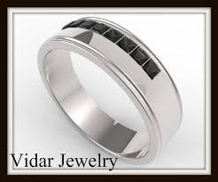 mens princess cut diamonds wedding ring vidar jewelry unique mens princess cut black wedding band vidar jewelry