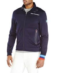 bmw motorsport clothing navy bmw motorsport track jacket in blue for lyst