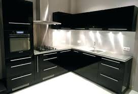 cuisine laqué noir cuisine laquee cuisine moderne meuble de cuisine noir laque