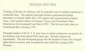 if i had 100 dollars writing paper my story about atomic bomb testing in nevada in 1951 a sign designed in the shape of the state of nevada if you would like to read the text that is written on the sign that is in the shape of nevada