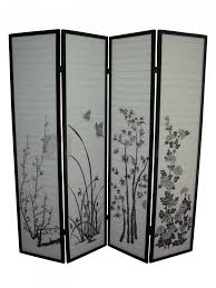 White Room Divider - astonishing stained white room divider screen design with gold