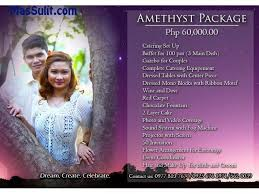 affordable wedding catering massulit complete and affordable wedding package