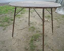 1960s Patio Furniture Mesh Patio Table Etsy