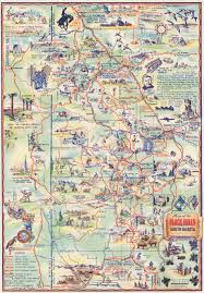 World Map 1940 by Map Of The Black Hills Of South Dakota The Sunshine State