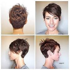 short hairstyles showing front and back views 2018 popular pixie haircuts front and back