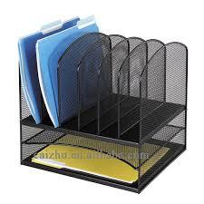 Office Desk Organizer by Black Wire Mesh Office Desk Organizer File Hoder Paper Organizer