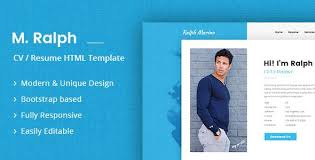 resume website template html cv resume templates from themeforest
