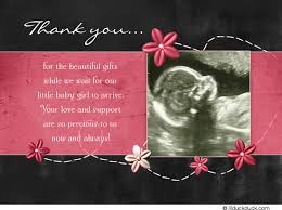 baby shower thank you cards sonogram thank you card pink girl baby shower photo
