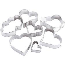 metal cookie cutters 7 set hearts 5928724 hsn