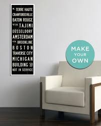 Personalized Wall Decor Custom Subway Signs Personalized Home Decor And Travel Posters