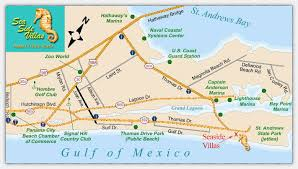 map of panama city sea side villas condominiums a condominium resort on the gulf