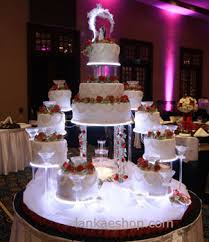 12 tier unique wedding cake structure with water sri