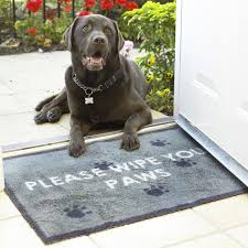 Wipe Your Paws Dog Doormat Turtle Mat Brown Squares Washable Door Mat In Multi Coloured