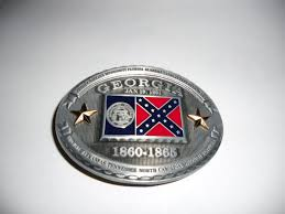 Confederate Flag Checks Georgia Belt Buckle 16 00 Olde South Limited Confederate