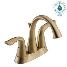 delta lahara 4 in centerset 2 handle bathroom faucet with metal
