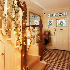 Christmas Lights For Stair Banisters Christmas Hallway Ideas Ideal Home