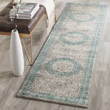 rug runners 2 x 6 safavieh sofia collection sof365a vintage light grey