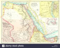Eritrea Map Egypt U0026 Nile Valley Sudan Eritrea British Somaliland Inset Cairo