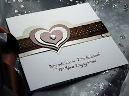 Congratulations On Engagement Card Mocha Handmade Engagement Card