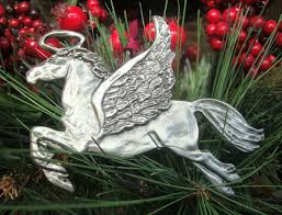 pewter ornaments pony guardian ornament
