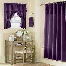 bathroom curtain ideas purple curtain idea with vintage bathroom interior plus